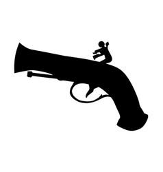 Vintage pistol vector