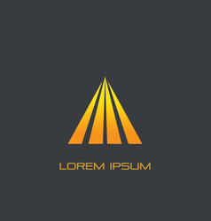 Triangle arrow business logo vector