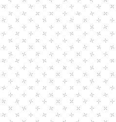 background crosses seamless pattern gray and white vector image