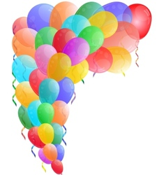Color background with glossy balloon vector image