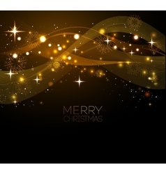 Merry christmas gold greeting card with vector