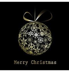 Golden christmas greeting card vector