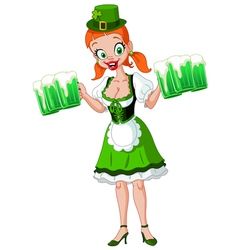 Saint patrick girl vector