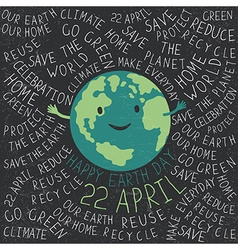 Happy earth earth smile happy earth day 22 apri vector