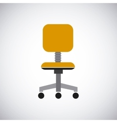 Chair design seat icon furniture concept vector image
