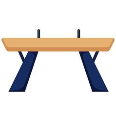 Gymnastics equipment balance bar vector