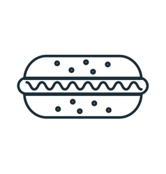 Delicious food hotdog and gastronomy theme design vector