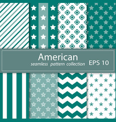 A set of eight paintings seamless fabric a vector