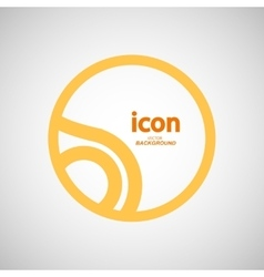 abstract circle icon Molecule color design vector image