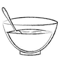 bowl with recipe icon vector image vector image