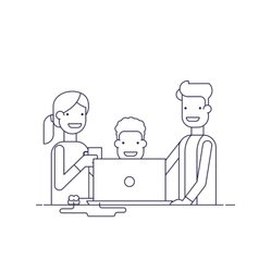 Business team in a work process or parent watch vector image vector image