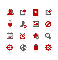 Communications interface icons vector