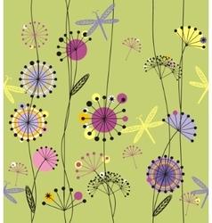 Dandelions flowers vector