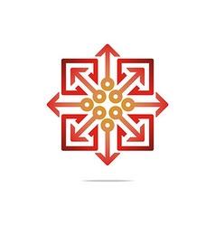 Design hexa arrow perfect icon style vector
