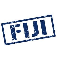fiji blue square stamp vector image