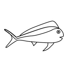 fish animal aquatic icon vector image vector image