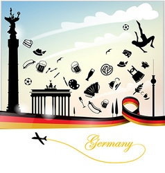 Germany background with flag vector image