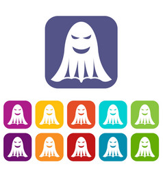 Ghost icons set vector