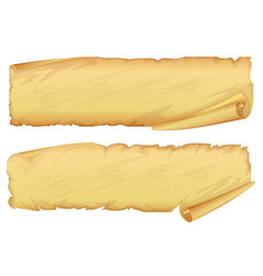 golden old scroll of parchment vector image vector image