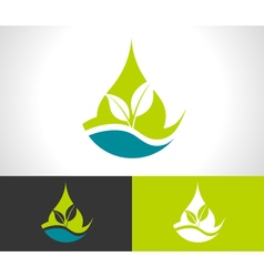 Green Eco Leaf Icon vector image
