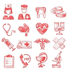hand draw medical vector image vector image