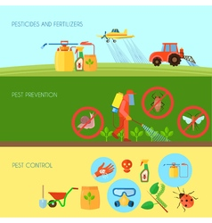 Pesticides Banners Set vector image vector image