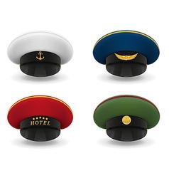 Professional uniform cap 05 vector