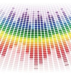Rainbow warped digital equalizer on white vector
