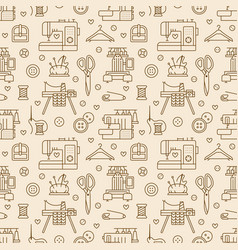 Sewing equipment tailor supplies seamless pattern vector