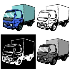 Small truck vector