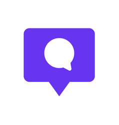 Speech bubble chat icon with pin mark comment vector