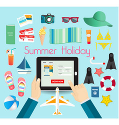 summer time vacation its holiday relax and vector image vector image