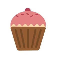 Sweet cup cake food and dessert vector image