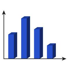 Template 3d chart vector