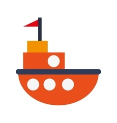 toy fishing boat icon vector image