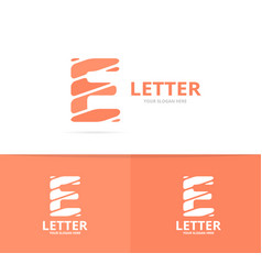 unique letter e logo design template vector image