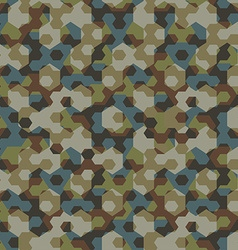 Urban camouflage geometric hexagon seamless vector