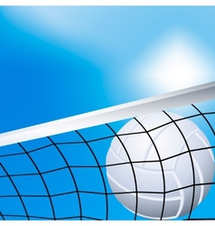 Volleyball in the net vector
