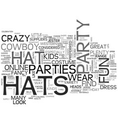 Why party hats are great news for partygoers text vector