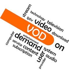 Word cloud vod vector