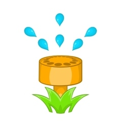 Sprinkler icon in cartoon style vector