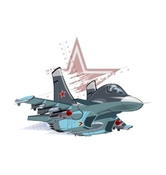 Cartoon military airplane vector