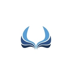 Isolated wings logo Bird element logotype vector image