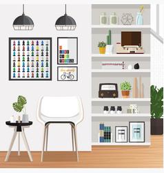 White living room vector
