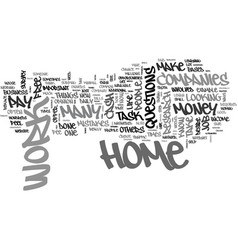 Why pay a fee for work at home job text word vector