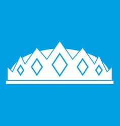 Small crown icon white vector