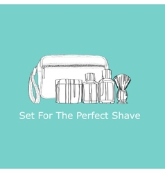 Set for the perfect shave vector