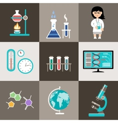 Science set infographic vector