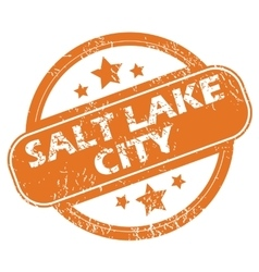 Salt lake city round stamp vector