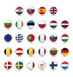 Set of european union country flags vector